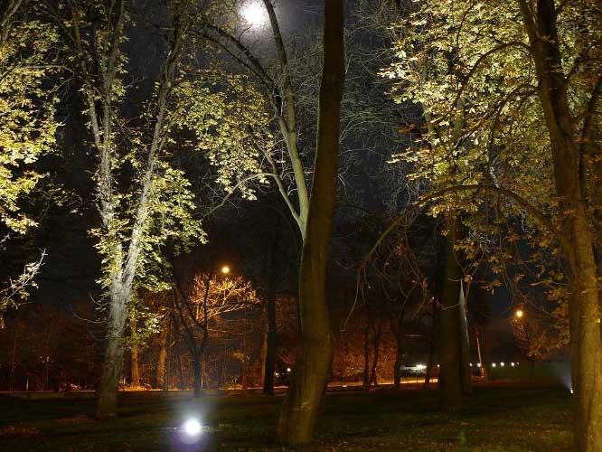 Osvetlenie parku – Malé Bielice (Slovakia)